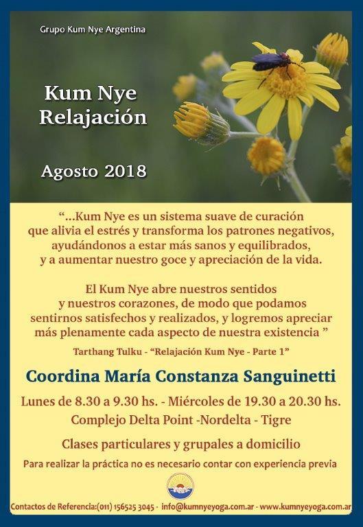 Kum Nye - Relajación en Nordelta - Tigre  • Agosto 2018