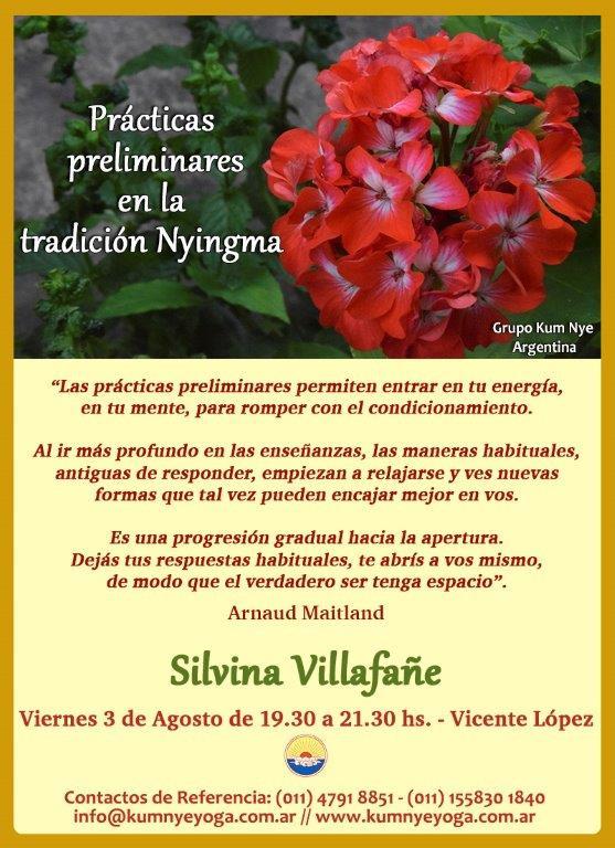Prácticas preliminares en la tradición Nyingma - Vicente López • Agosto 2018