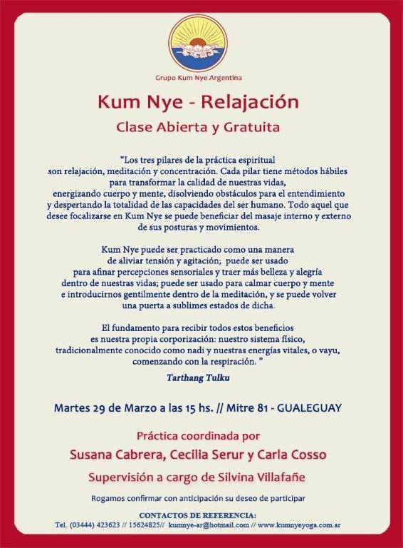 Kum Nye - Relajación en Gualeguay • Marzo 2016