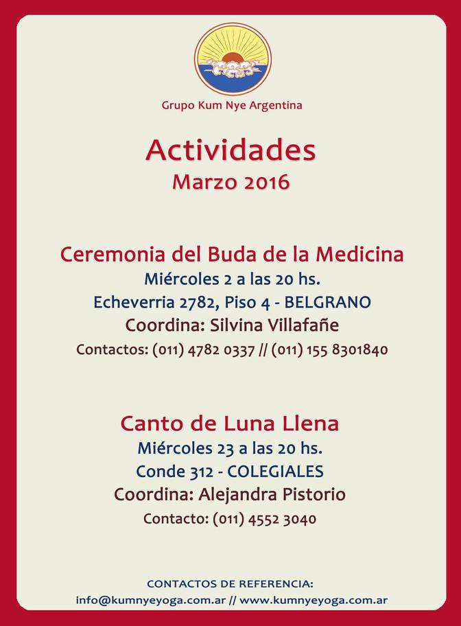 Ceremonia del Buda de la Medicina y Canto de Luna Llena • Marzo 2016