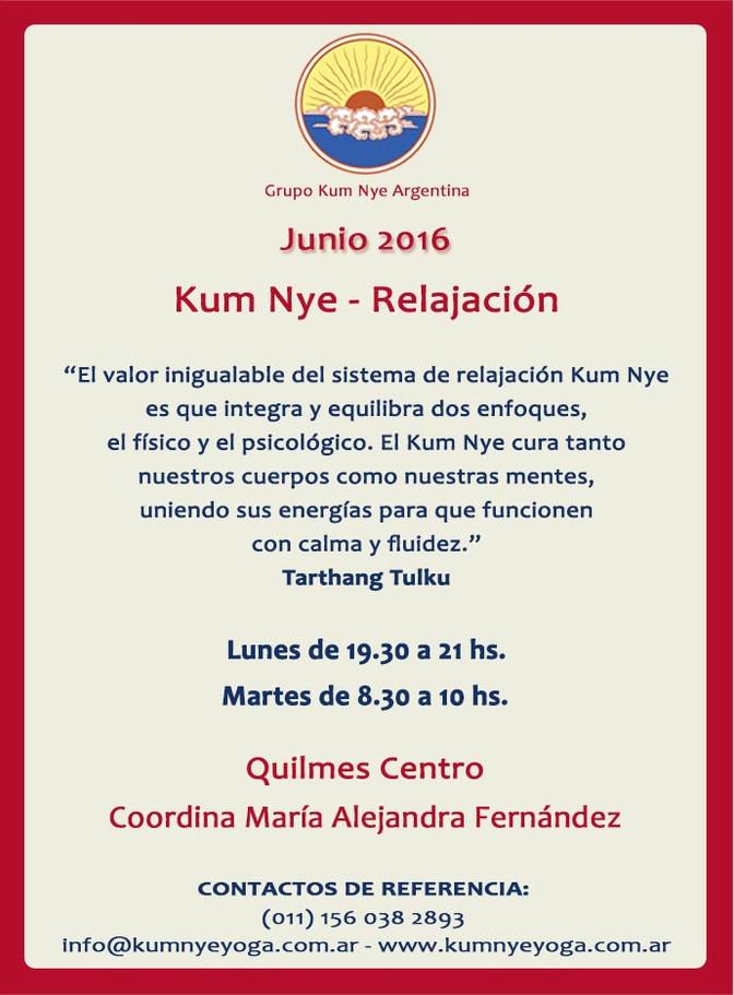 Kum Nye - Relajación en Quilmes Centro • Junio 2016