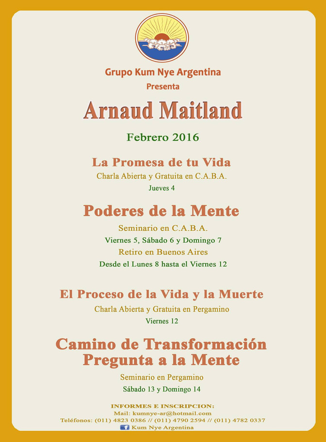 Actividades con Arnaud Maitland • Febrero 2016