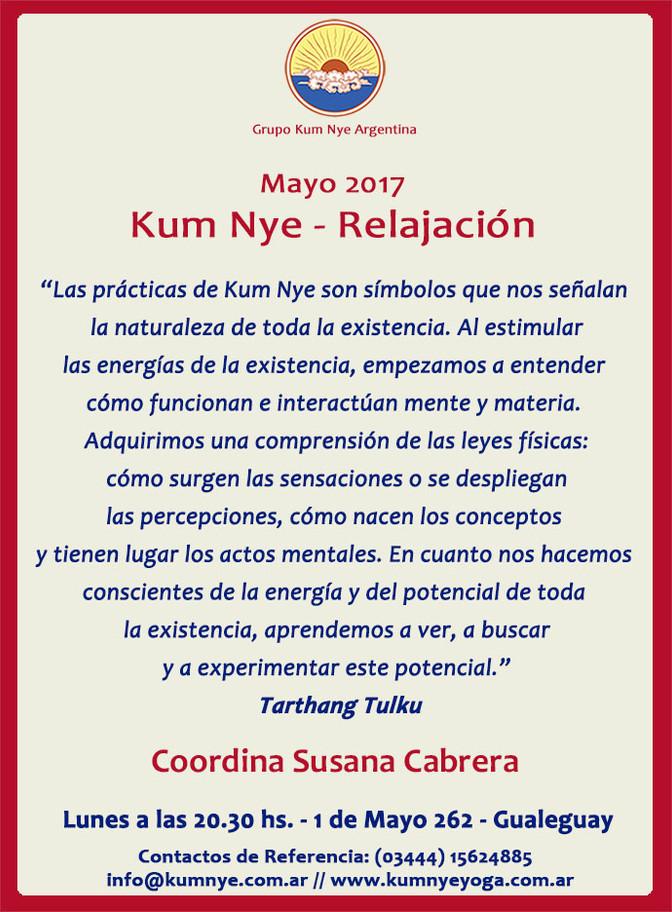 Kum Nye - Relajación en Gualeguay • Mayo 2017