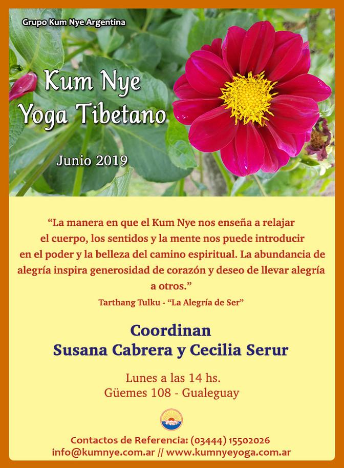 Kum Nye - Yoga Tibetano en Gualeguay en Junio de 2019
