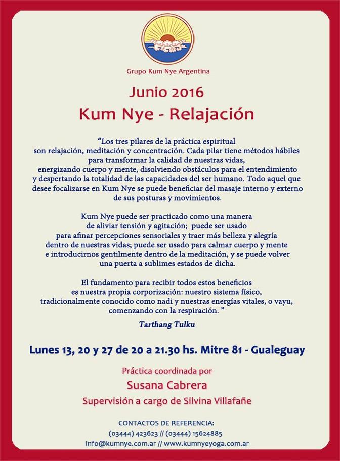 Kum Nye - Relajación en Gualeguay • Junio 2016