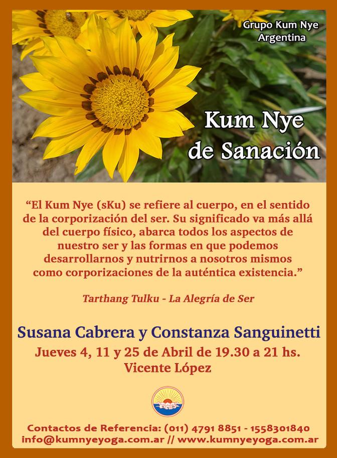 Kum Nye de Sanación en Vicente López  - Abril 2019
