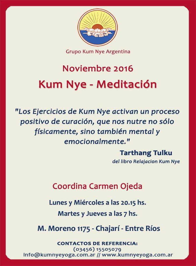 Kum Nye - Meditación en Chajarí • Noviembre 2016