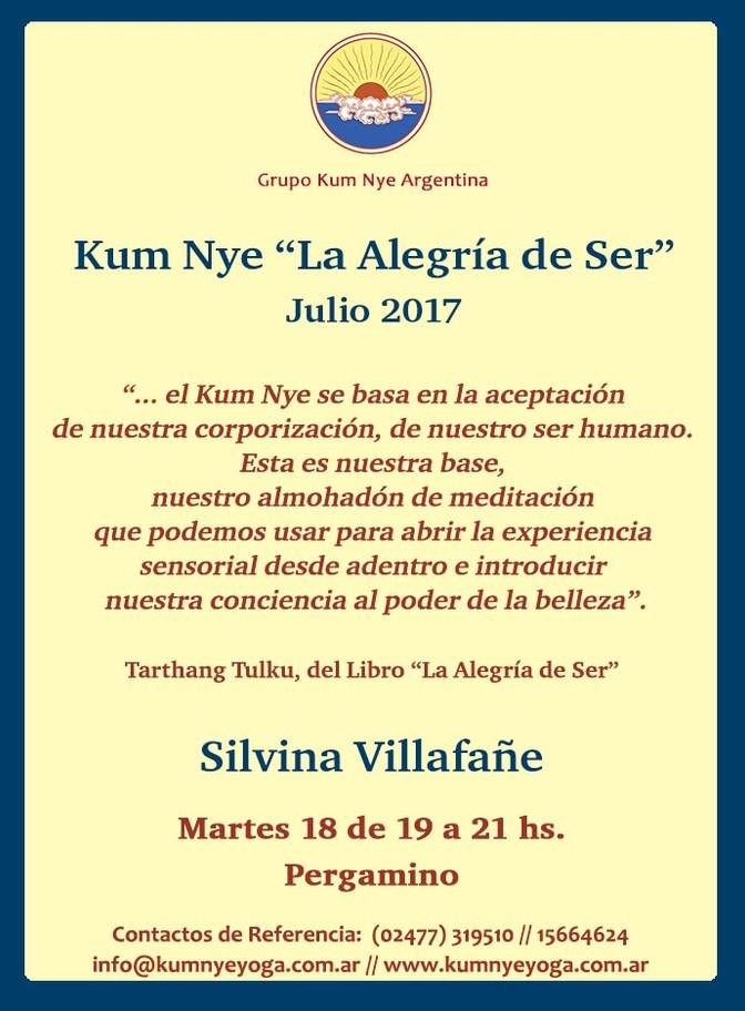 """Kum Nye """"La Alegría de Ser"""" en Pergamino • Julio 2017"""