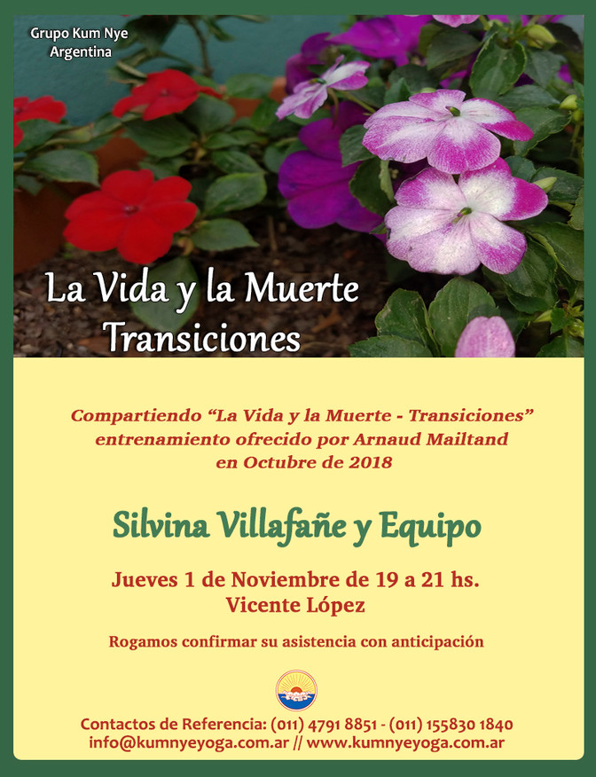 La Vida y la Muerte - Transiciones - Vicente López - Noviembre de 2018