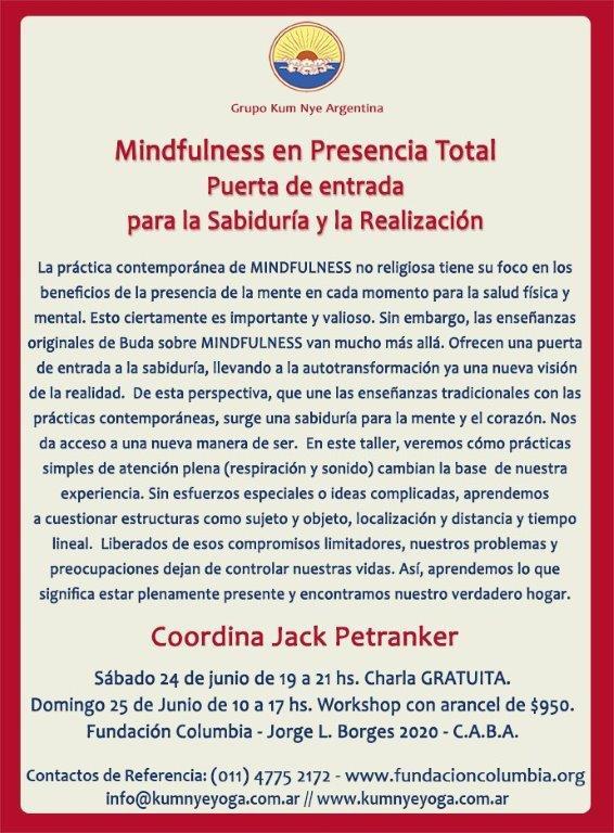 Mindfulness en Presencia Total • Junio 2017