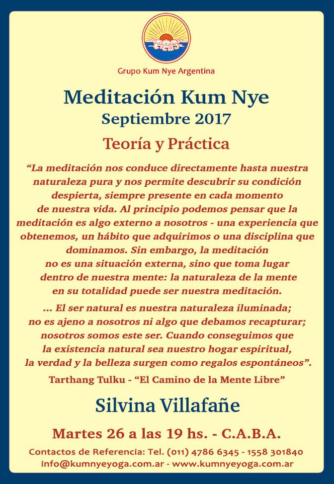 Meditación Kum Nye en C.A.B.A. • Septiembre 2017