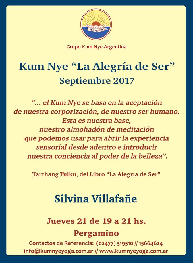 """Kum Nye """"La Alegría de Ser"""" en Pergamino • Septiembre 2017"""