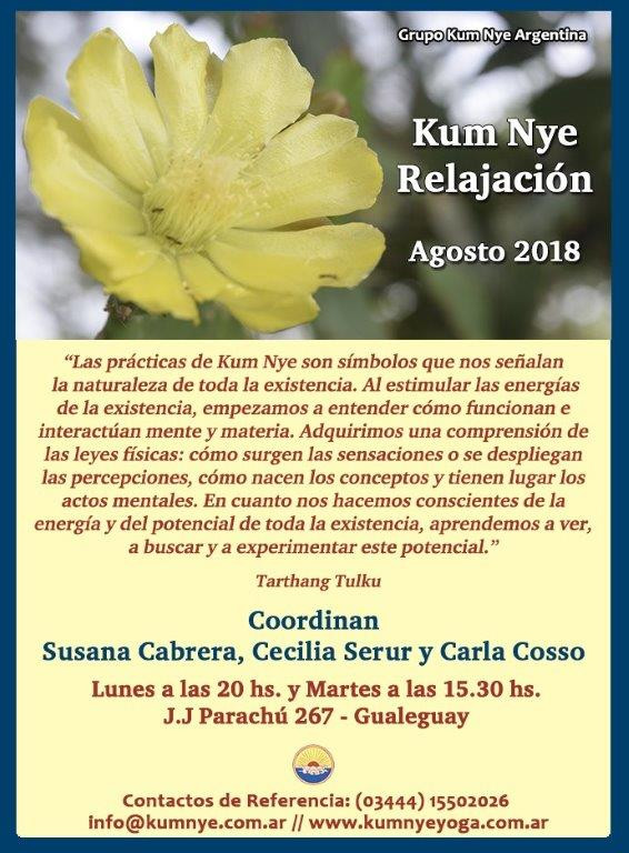 Kum Nye Relajación en Gualeguay • Agosto 2018