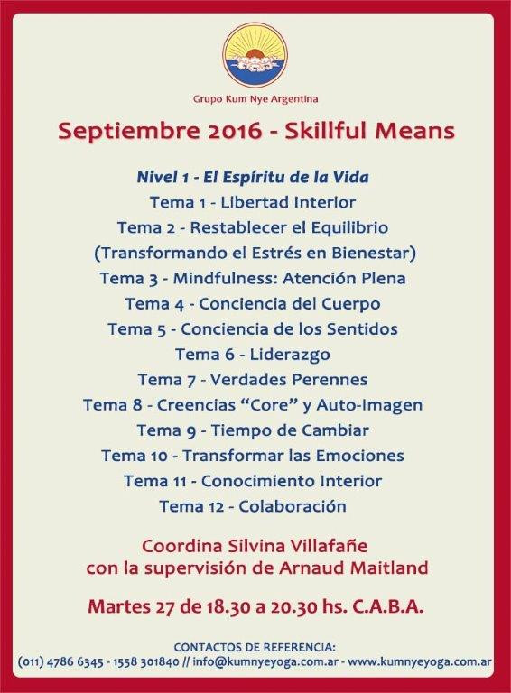 Skillful Means en C.A.B.A.• Septiembre 2016