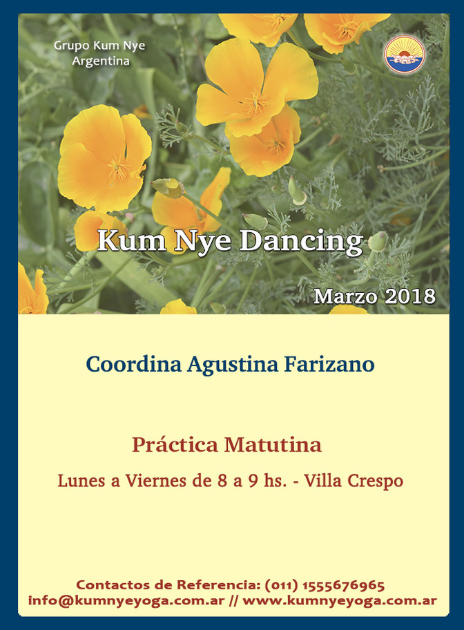 Kum Nye Dancing en Villa Crespo • Marzo 2018