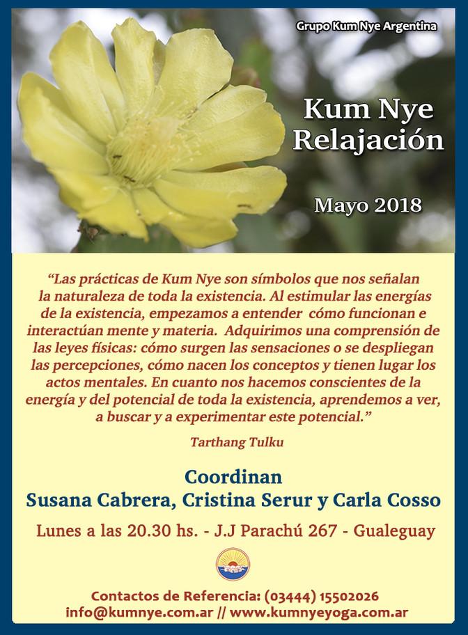 Clases de Kum Nye - Relajación en Gualeguay • Mayo 2018