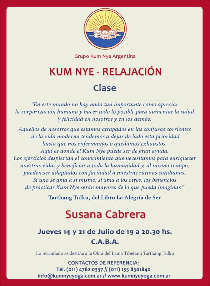 Kum Nye - Relajación en C.A.B.A.• Julio 2016