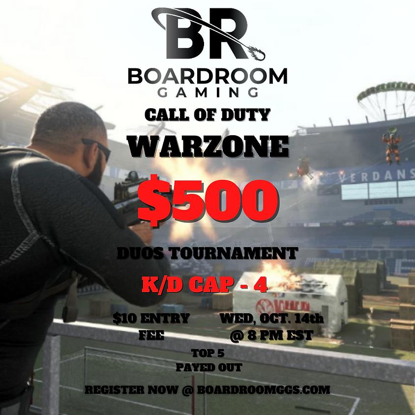 $500 Warzone Wednesday Duos Kill Race Tournament