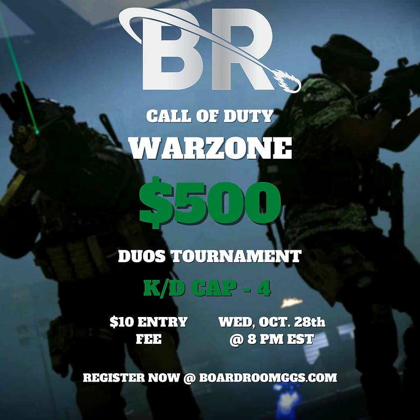 $500 Wednesday Warzone Duos Kill Race Tournament