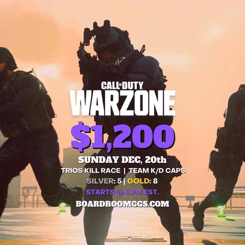 $1,200 SUNDAY WARZONE