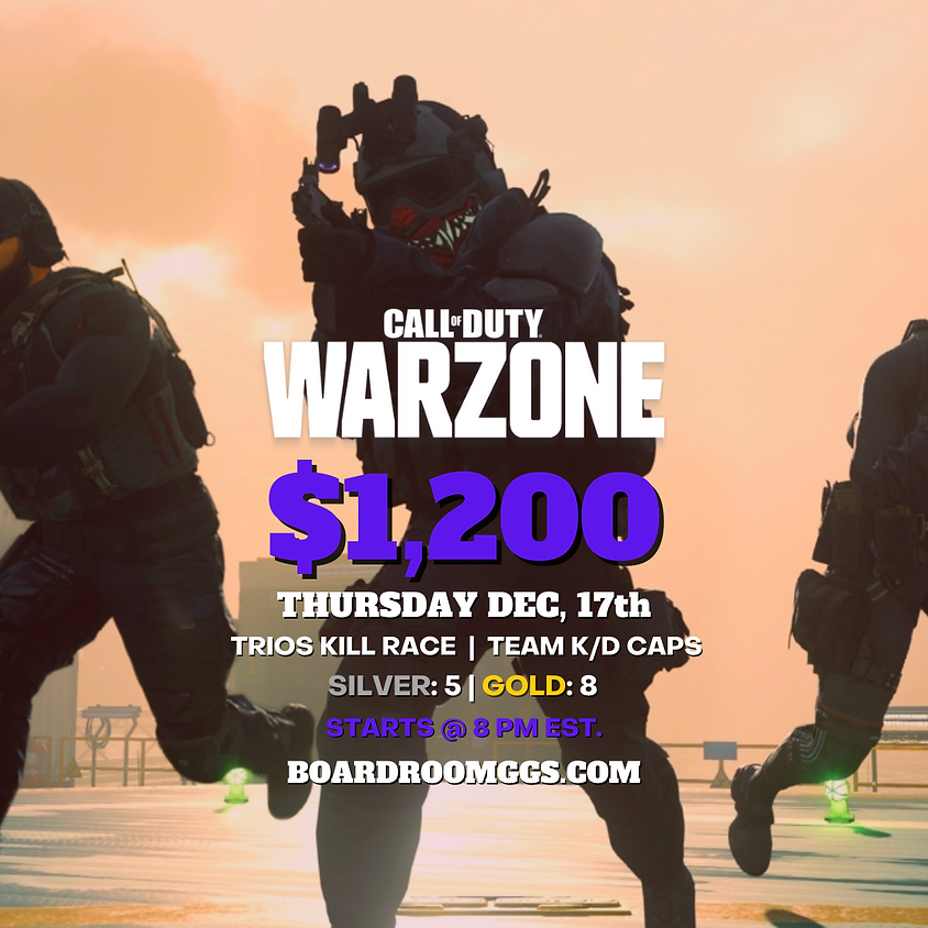 $1,200 THURSDAY WARZONE