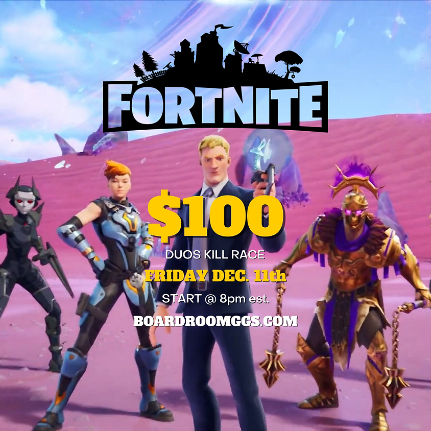 $100 Duos Kill Race Tournament