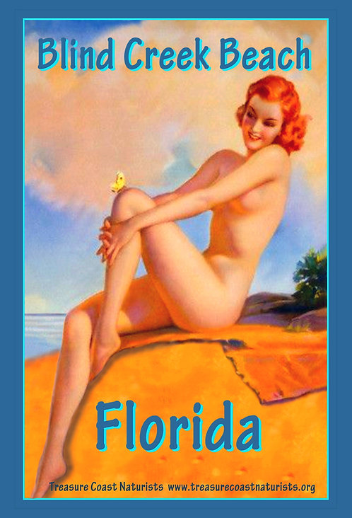 Antique Beach Poster (Orange)
