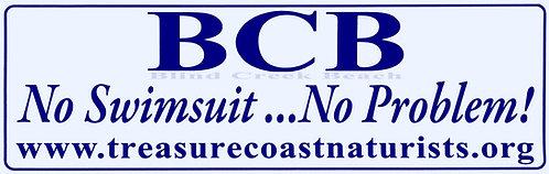 BCB No Swimsuit Bumper Sticker