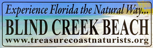 Blind Creek Beach Bumper Sticker #1