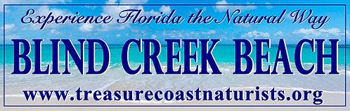 Blind Creek Beach Bumper Sticker #2