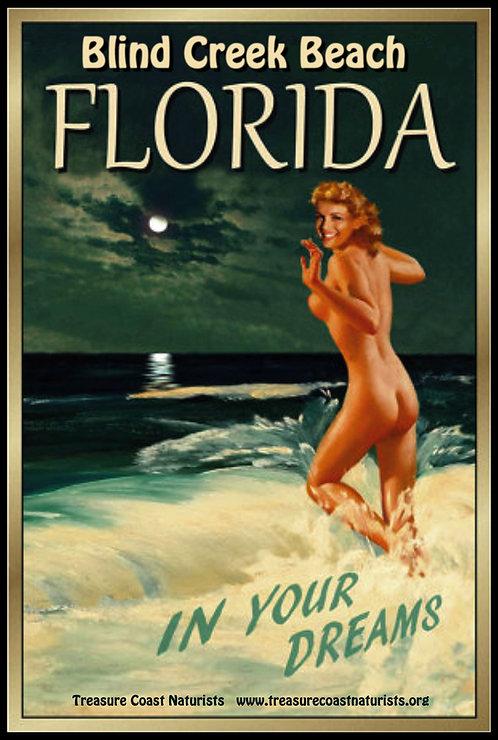 Antique Beach Poster (Green)