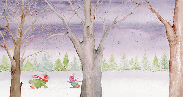 A bunny picture  book about her best Christmas