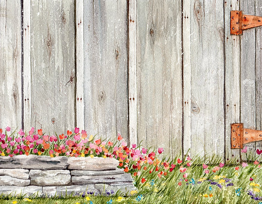 rock wall & tulip print