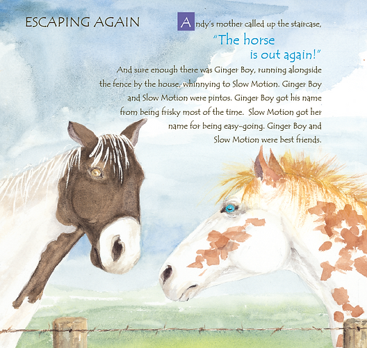 A picture book about a girl and her Ginger colored horse