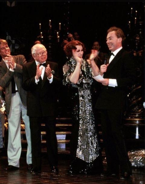Onstage with Billy Wilder, Glenn Close and Andrew Lloyd Webber