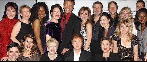 with Paul McCartney for The Actors Fund
