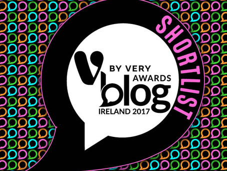 Hooray! Shortlisted for Award in V by Very Blog Awards Ireland 2017