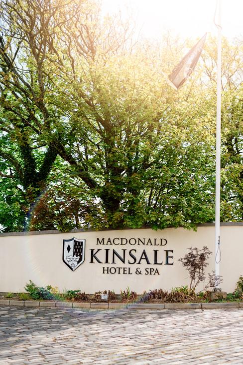 happy memories photography outdoor  wedding Macdonald Kinsale Hotel