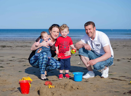 Day at the beach ~ Family photo session | Ardmore