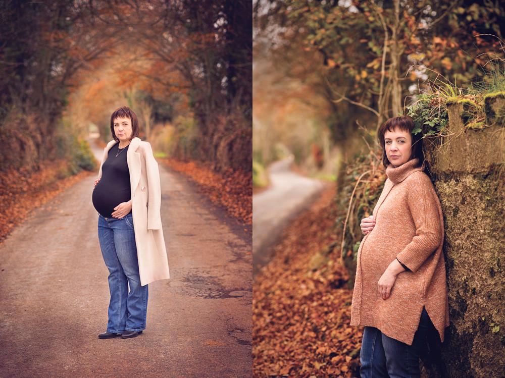outdoor autumn maternity photosession dungarvan