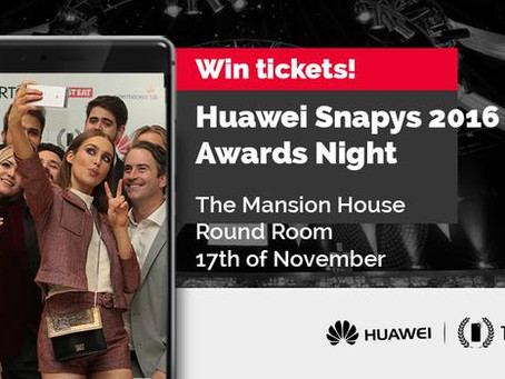 WIN 2 tickets to Huawei Snapys Awards 2016