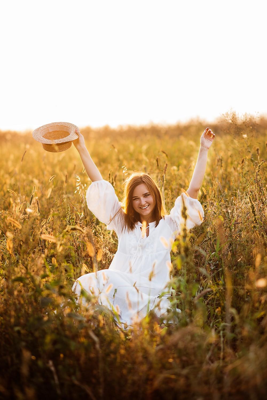 portrait of the beautiful girl in golden hour dungarvan happy memories photography