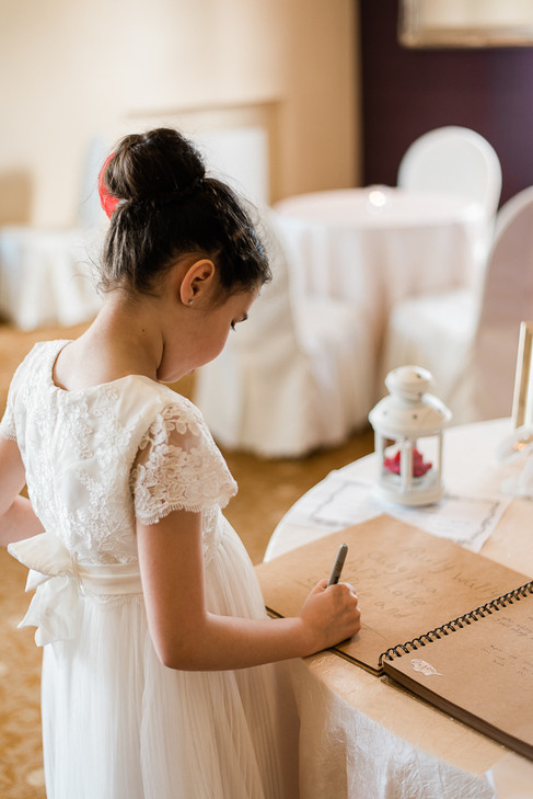 Trim Castle Hotel wedding photographer ireland dungarvan guest book