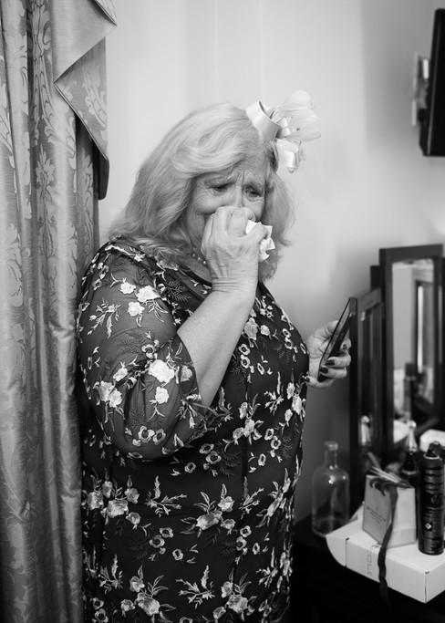 Trim Castle Hotel wedding photographer ireland mother crying  dungarvan