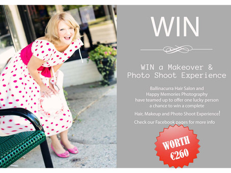 WIN a Makeover & Photo Shoot Experience ~ Ballinacurra Hair Salon and Happy Memories Photography
