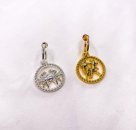 Sterrenbeeld dierenriem clipoorbellen goud | zilver  Oorbellen met clips | Klipoorbellen
