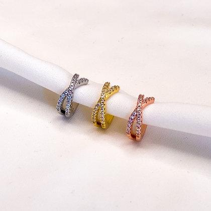 Earcuff diamandjes diamonds steentjes rosegoud goud zilver oorbel zonder piercing conch tragus nepoorbel neppiercing