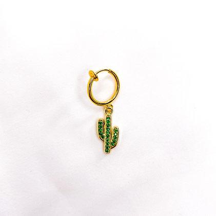 Cactus groen goud clipoorbel zonder piercing   Oorbellen zonder piercing   Clipoorbellen   Oorclips