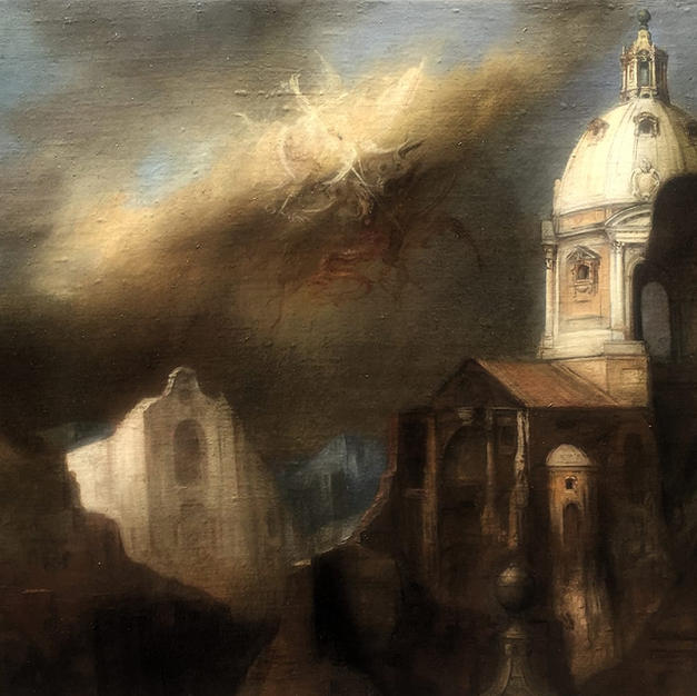 Paesaggio iporealista con visione mistic