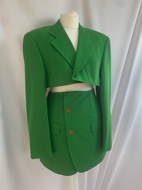 Reworked Green Hugo Boss Skirt Set